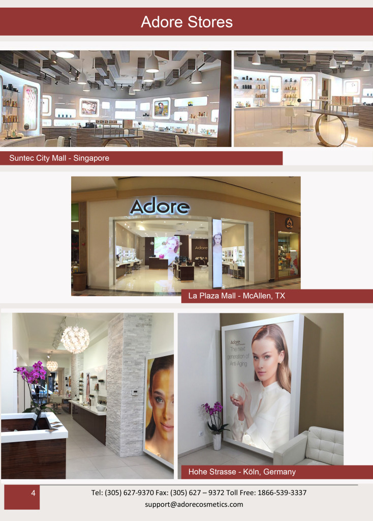 Adore organic innovation stores