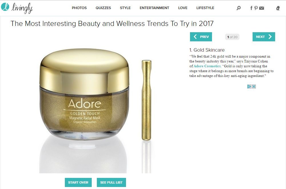 Adore Cosmetics News Roundup: February